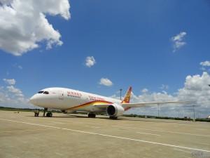 7月11日海航首架787梦想客机启航