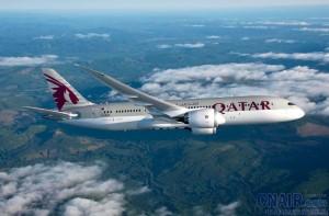 卡塔尔航空波音787客机执飞南非航线