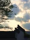 夕阳下的马头檐